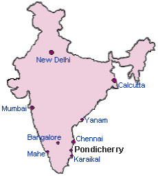 India puducherry map